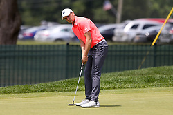 June 22, 2018 - Cromwell, Connecticut, United States - Jordan Spieth putts on the 8th green during the second round of the Travelers Championship at TPC River Highlands. (Credit Image: © Debby Wong via ZUMA Wire)