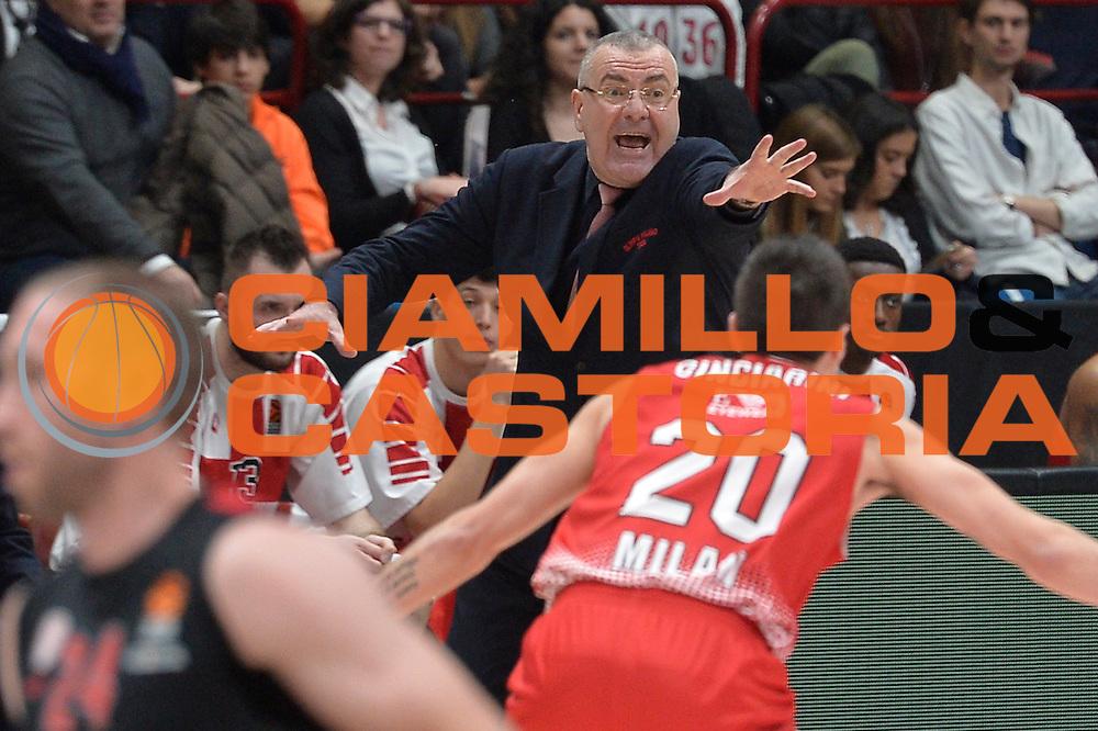 Jasmin Repesa<br /> EA7 Emporio Armani Olimpia Milano - Olympiacos Piraeus<br /> Euroleague 2016/2017<br /> Milano 25/01/2017<br /> Foto Ciamillo-Castoria