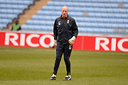 Coventry City legend , goal keeping coach, Steve Ogrizovic during the Sky Bet League 1 match between Coventry City and Bury at the Ricoh Arena, Coventry, England on 13 February 2016. Photo by Dennis Goodwin.