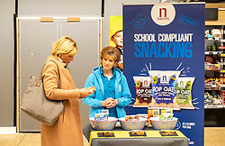 Pictured: Fiona Robertson, Senior brand manager for Nairn's gets a feel for selling again.<br />