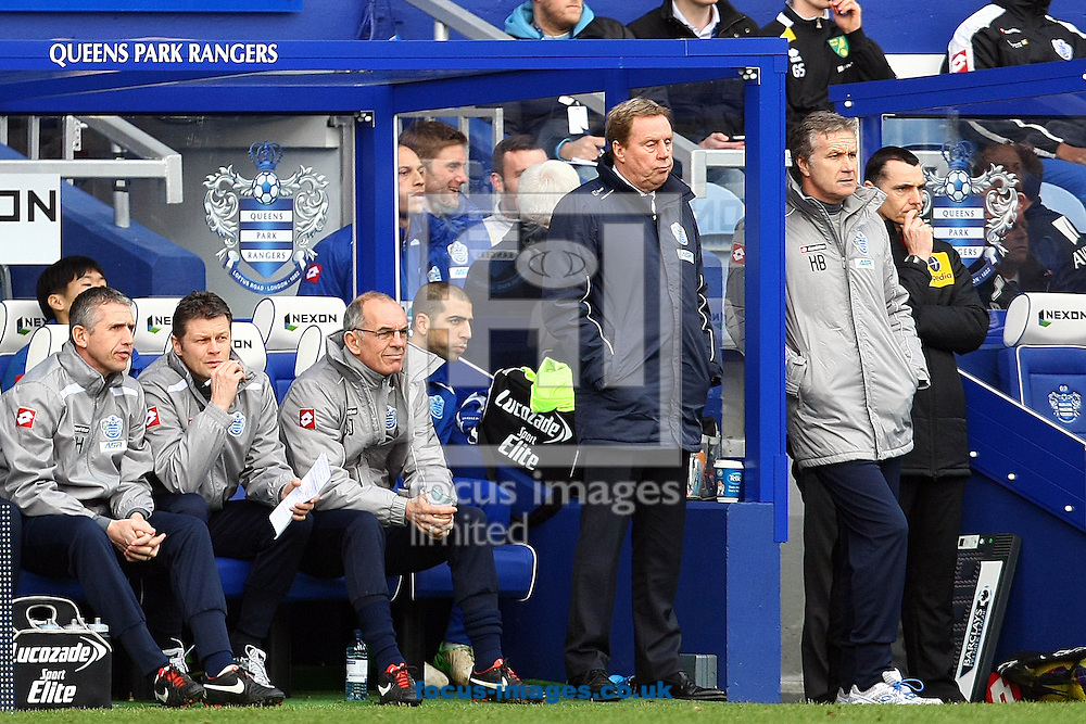 Picture by Paul Chesterton/Focus Images Ltd +44 7904 640267.02/02/2013.QPR Manager Harry Redknapp during the Barclays Premier League match at the Loftus Road Stadium, London.