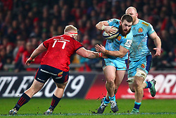Greg Holmes of Exeter Chiefs goes by Jeremy Loughman of Munster Rugby - Mandatory by-line: Ken Sutton/JMP - 19/01/2019 - RUGBY - Thomond Park - Limerick,  - Munster Rugby v Exeter Chiefs -