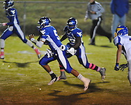 Water Valley's E.J. Bounds (5) scores vs. Mantachie in high school football action in Water Valley, Miss. on Friday, October 26, 2012.