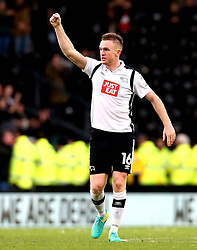Alex Pearce of Derby County celebrates the victory over Nottingham Forest - Mandatory by-line: Robbie Stephenson/JMP - 11/12/2016 - FOOTBALL - iPro Stadium - Derby, England - Derby County v Nottingham Forest - Sky Bet Championship