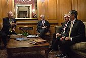 Senators Lamar Alexander and Bob Corker meet with former senators Bill Brock & Bill Frist for lunch.