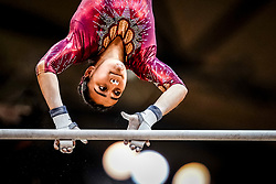 October 28, 2018 - Doha, Quatar - Nicolle Castro of  Mexico   during  Uneven Bars qualification at the Aspire Dome in Doha, Qatar, Artistic FIG Gymnastics World Championships on 28 of October 2018. (Credit Image: © Ulrik Pedersen/NurPhoto via ZUMA Press)
