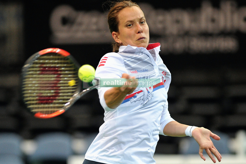 November 8, 2018 - Prague, Czech Republic - Barbora Strycova of the Czech Republic during practice ahead of the 2018 Fed Cup Final between the Czech Republic and the United States of America in Prague in the Czech Republic. The Czech Republic will face United States in the Tennis Fed Cup World Group on 10 and 11 November 2018. (Credit Image: © Slavek Ruta/ZUMA Wire)