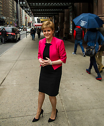 Pictured: Nicola Sturgeon<br /> <br /> The First Minister Nicola Sturgeon, MSP, was spotted outside Carnegie Hall in New York this afternoon as part of her trip to promote Scotland across the USA. <br /> <br /> Ger Harley | EEm 7 April 2017