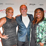 Marisha Wallace, Nick Ede and Chizzy Akudolu attends gala dinner and concert to raise money and awareness for the Melissa Bell Foundation and Style For Stroke Foundation. 14 October 2018.