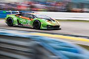 March 12-16, 2019: Mobil 1 12 hours of Sebring. #11 GRT Grasser Racing Team Lamborghini Huracan GT3, Orange 1 Racing, GTD: Mirko Bortolotti, Rik Breukers, Rolf Ineichen