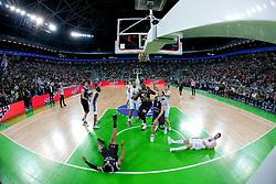 Arena during final match of Basketball NLB League at Final four tournament between KK Union Olimpija (SLO) and Partizan Belgrade (SRB), on April 21, 2011 in Arena Stozice, Ljubljana, Slovenia.  (Photo By Vid Ponikvar / Sportida.com)