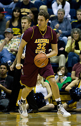 February 27, 2010; Berkeley, CA, USA; Arizona State Sun Devils forward/center Taylor Rohde (32) during the first half against the California Golden Bears  at Haas Pavilion. California defeated Arizona State 62-46.