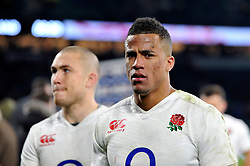 Anthony Watson of England looks on after the match - Mandatory byline: Patrick Khachfe/JMP - 07966 386802 - 27/02/2016 - RUGBY UNION - Twickenham Stadium - London, England - England v Ireland - RBS Six Nations.