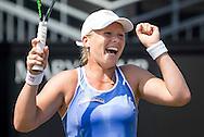 ROSMALEN, tennis Topshelf Open 2015, 12-06-2015, Autotron Rosmalen, Kiki Bertens (NED) wint haar partij tegen Coco Vandeweghe (USA) en staat in de halve finale.