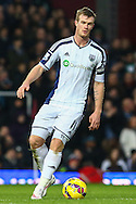 Chris Brunt of West Bromwich Albion during the Barclays Premier League match at the Boleyn Ground, London<br /> Picture by David Horn/Focus Images Ltd +44 7545 970036<br /> 01/01/2015