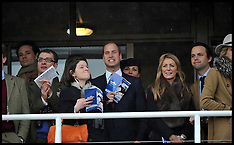 MAR 15 2013 Prince William Gets His ear Pinched at Cheltenham Races