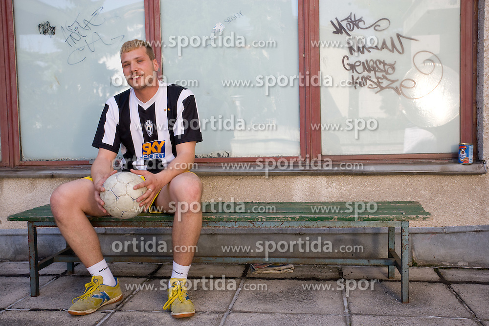 Portrait of football player Miran Brejc, on April 30, 2010, in Ljubljana, Slovenia.  (Photo by Vid Ponikvar / Sportida)