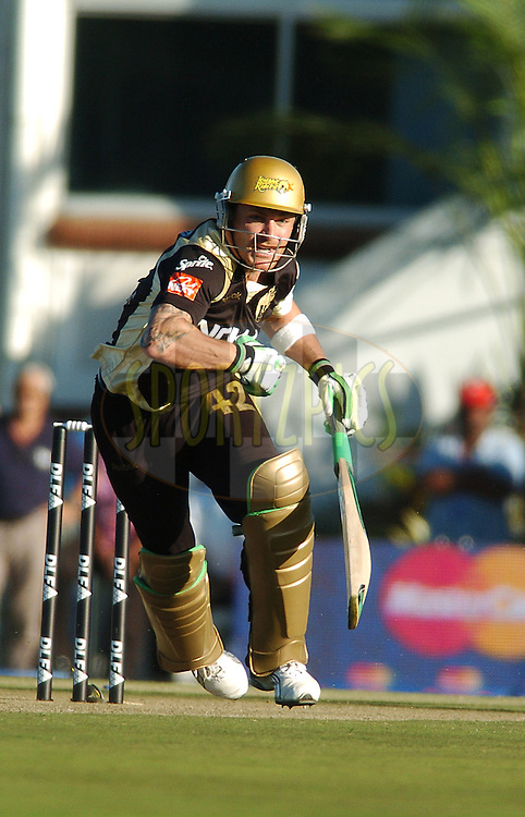 EAST LONDON, SOUTH AFRICA - 1 May 2009.  McCullum during the  IPL Season 2 match between the Mumbai Indians and the Kolkata Knight Riders held at Buffalo Park in East London. South Africa...