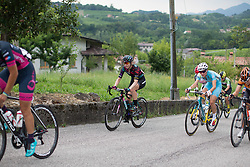 Alexis Ryan (USA) of CANYON//SRAM Racing rides up on the day's main climb during the Giro Rosa 2016 - Stage 1. A 104 km road race from Gaiarine to San Fior, Italy on July 2nd 2016.