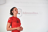 WARSAW, POLAND - APRIL 23: Aleksandra Musielak  - trainer, personal coach and sport's physiotherapist (Adrenalina FIT) speaks during science conference The Day of Sport at National Library on April 23, 2016 in Warsaw, Poland.<br /> <br /> Picture also available in RAW (NEF) or TIFF format on special request.<br /> <br /> Any editorial, commercial or promotional use requires written permission from the author of image.<br /> <br /> Adam Nurkiewicz declares that he has no rights to the image of people at the photographs of his authorship.<br /> <br /> Mandatory credit:<br /> Photo by © Adam Nurkiewicz / Mediasport