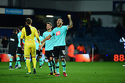 Derby County midfielder Bradley Johnson (15) celebrates a win during the EFL Sky Bet Championship match between Queens Park Rangers and Derby County at the Loftus Road Stadium, London, England on 14 December 2016. Photo by Jon Bromley.