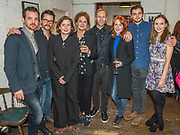 Gethin Anthony, Robert Lonsdale, Nancy crane, Director<br /> James Hillier, Kate Fahy, Laura Rogers, Michael Fox and Alexandra Dowling (then cast) - Press night party for A Lie of the Mind by Sam Shepard a new production by Defibrillator at the Southwark Playhouse, London.