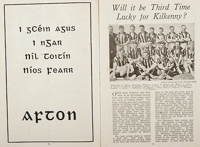 All Ireland Senior Hurling Championship Final,.Brochures,.07.09.1947, 09.07.1947, 7th September 1947,.Kilkenny 0-14, Cork 2-7,.Minor Galway v Tipperary, .Senior Kilkenny v Cork, .Croke Park,..Articles, Will it be Third Time Lucky for Kilkenny?, ..Advertisements, Afton, .