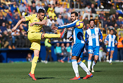 February 3, 2019 - Villarreal, Castellon, Spain - Vicente Iborra of Villarreal and Borja Iglesias of RCD Espanyol during the La Liga match between Villarreal and Espanyol at Estadio de la Ceramica on February 3, 2019 in Vila-real, Spain. (Credit Image: © Maria Jose Segovia/NurPhoto via ZUMA Press)