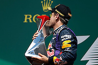 MOTORSPORT - F1 2013 - GRAND PRIX OF CANADA - MONTREAL (CAN) - 07 TO 09/06/2013 - PHOTO FRANCOIS FLAMAND / DPPI - VETTEL SEBASTIAN (GER) - RED BULL RENAULT RB9 - AMBIANCE PORTRAIT PODIUM