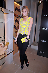 MARISSA MONTGOMERY at a party hosted by TOD's to celebrate the launch of the J.P.Loafer collection, held at the TOD's Boutique, 2-5 Old Bond Street, London on 31st March 2009.