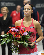 Viktorija Golubic (SUI) runner up in the final of the WTA Generali Ladies Linz Open at TipsArena, Linz<br /> Picture by EXPA Pictures/Focus Images Ltd 07814482222<br /> 16/10/2016<br /> *** UK &amp; IRELAND ONLY ***<br /> <br /> EXPA-REI-161016-5031.jpg