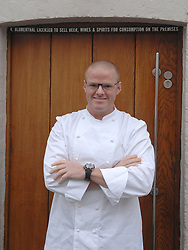 © Licensed to London News Pictures. 20/11/2012. London, FILE PICTURE DATED 12/03/09. Celebrity Chef Heston Blumenthal outside his Fat Duck Restaurant in Bray, Berkshire. Today 20/11/201 two chefs from the restaurant have been killed in a traffic accident in Hong Kong. Photo credit : Stephen Simpson/LNP