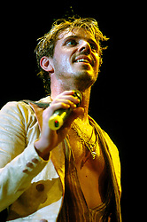 Jake Shears of Scissor Sisters At Sheffield Hallam FM Arena .21 November 2006.Copyright Paul David Drabble
