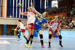 Lina Krhlikar of Slovenia during handball match between Women national teams of Slovenia and Denmark in Round #5 of Qualifications for Women's EHF EURO 2018 Championship in France, on May 30, 2018 in Sports hall Golovec, Celje, Slovenia. Photo by Urban Urbanc / Sportida