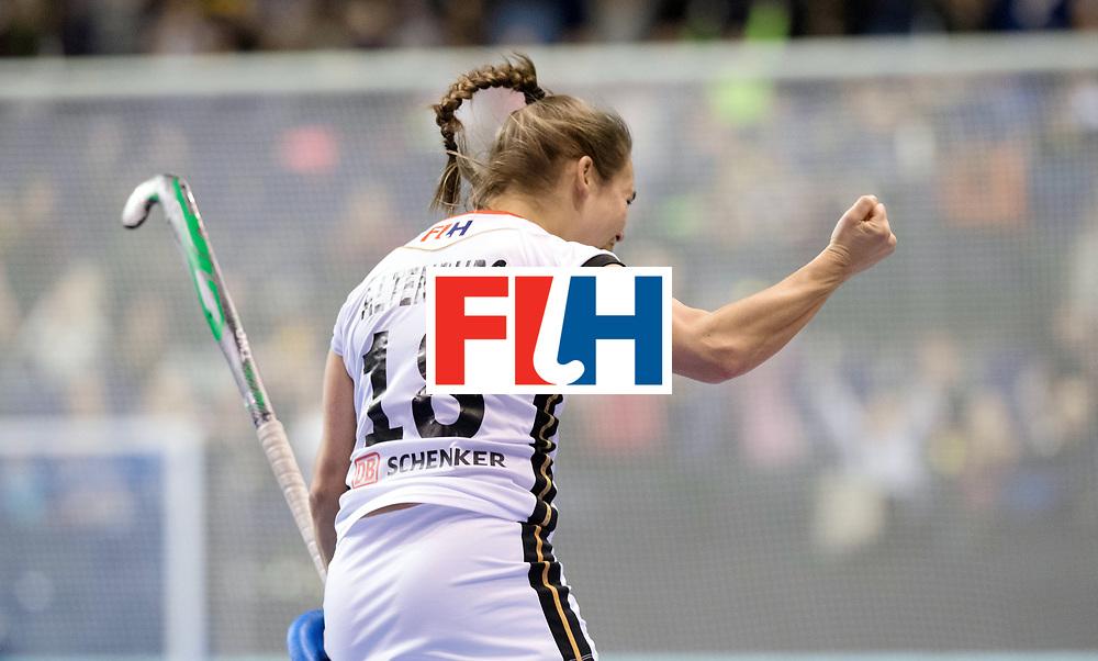 BERLIN - Indoor Hockey World Cup<br /> SF2 Belarus - Germany<br /> foto: Lisa Altenburg <br /> WORLDSPORTPICS COPYRIGHT FRANK UIJLENBROEK