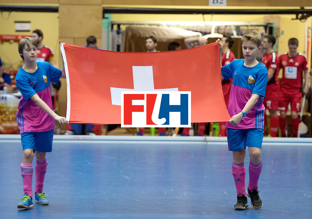 BERLIN - Indoor Hockey World Cup<br /> Switzerland - South Africa<br /> foto: Line Up<br /> WORLDSPORTPICS COPYRIGHT FRANK UIJLENBROEK