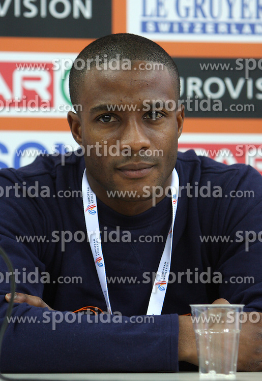 Athlete Gregory Sedoc of Nedherlands at press conference day before European Athletics Indoor Championships Torino 2009 (6th - 8th March), at Oval Lingotto Stadium,  Torino, Italy, on March 5, 2009. (Photo by Vid Ponikvar / Sportida)