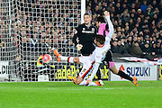 MK Dons striker Dean Bowditch goes close  during the The FA Cup Third Round Replay match between Milton Keynes Dons and Northampton Town at stadium:mk, Milton Keynes, England on 19 January 2016. Photo by Dennis Goodwin.