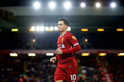 LIVERPOOL, ENGLAND - Boxing Day, Tuesday, December 26, 2017: Liverpool's Philippe Coutinho Correia during the FA Premier League match between Liverpool and Swansea City at Anfield. (Pic by David Rawcliffe/Propaganda)