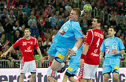 Matej Gaber of Slovenia during handball match between National teams of Slovenia and Poland of Qualification Group 3 for Men's EURO 2012, on March 9, 2011 in Arena Stozice, Ljubljana, Slovenia. Slovenia defeated Poland 30-28. (Photo By Vid Ponikvar / Sportida.com)