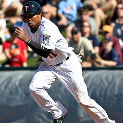 March 11, 2011; Fort Myers, FL, USA; Minnesota Twins center fielder Ben Revere (11) during a spring training exhibition game against the Boston Red Sox at Hammond Stadium.   Mandatory Credit: Derick E. Hingle