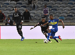South Africa: Johannesburg: Orlando Pirates Paseka Mako and Cape Town City Thabo Nodada during the Premier Soccer League (PSL) at Orlando Stadium in Soweto, Gauteng.<br />19.09.2018<br />Picture: Itumeleng English/African News Agency (ANA)