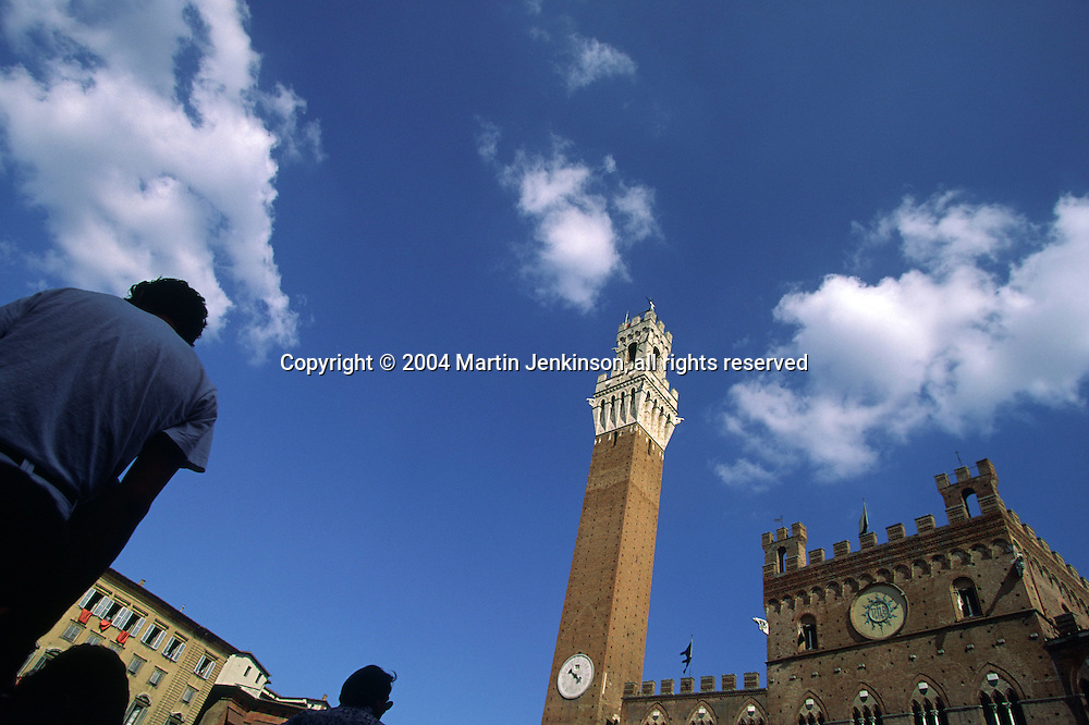 The Palazzo Pubblico and the Torre del Mangia in the Piazza del Campo, Siena....travel, lifestyle