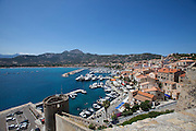 The harbour and marina seen from the Citadel.
