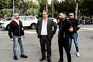 Roma, Italia - Roberto Fiore (al centro), segretario del partito di estrema destra di Forza Nuova.<br /> <br /> Rome, Italy - Italy's far right  leader of Forza Nuova party Roberto Fiore (center) during arally in Rome on November 4, 2017.<br /> <br /> Ph. Roberto Salomone