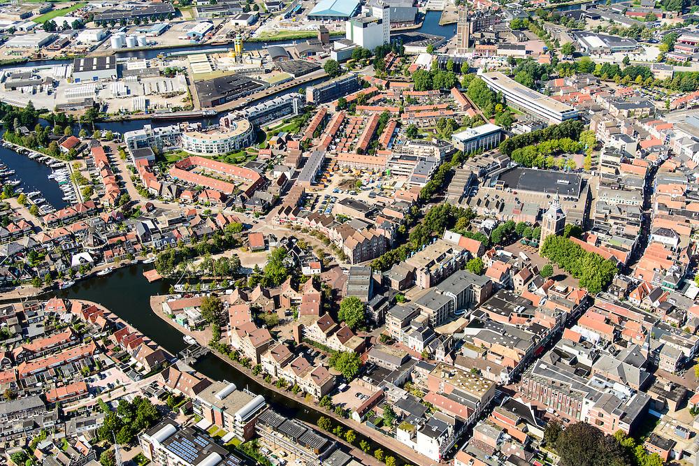 Nederland, Drenthe, Meppel, 23-08-2016; centrum van Meppel met Drentsche Hoofdvaart.<br /> Center of Meppel with Drentsche Hoofdvaart.<br /> luchtfoto (toeslag op standard tarieven);<br /> aerial photo (additional fee required);<br /> copyright foto/photo Siebe Swart