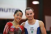 Hitomi Hatakeda, Japan and Oleg Verniaiev, Ukraine win the Arthur Gander Memorial,  Morges, Switzerland on 1 November 2017. Photo by Myriam Cawston.