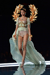 Jourdana Phillips on the catwalk for the Victoria's Secret Fashion Show at the Mercedes-Benz Arena in Shanghai, China.