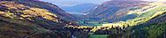 Highland Scottish mountain scenery in autumn.