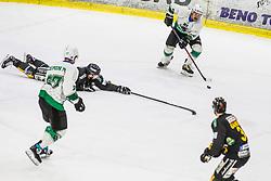 RAJSAR Saso of HK SZ Olimpija during Ice Hockey match between HK SZ Olimpija and HC Pustertal Wolfe in 6th Final game of Alps Hockey League 2018/19, on April 19th, 2019, in Hala Tivoli, Ljubljana, Slovenia. Photo by Grega Valancic